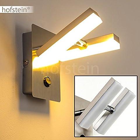 Plafonnier LED Sakami - 2 Spots Réglables - Luminaire chrome avec interrupteur marche arrêt