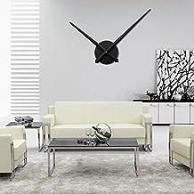 URAQT Moderno Reloj de Pared 3D de Aluminio DIY Alta Calidad Reloj de Pared de Moda