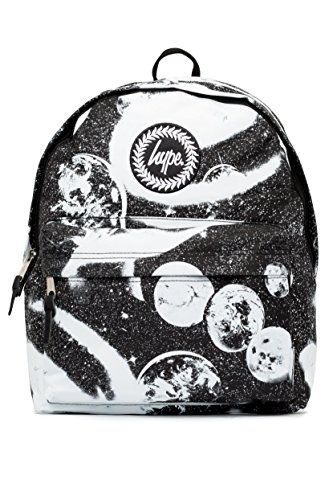 Mochila Hype Impresión Espacial (Negro/Blanco)