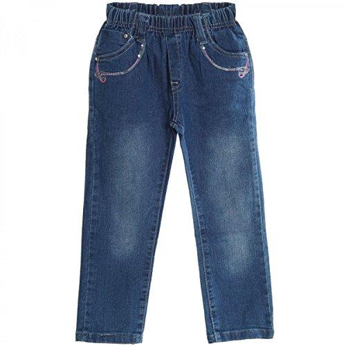 Baby Mädchen Jeans Hose Röhre Straight Fit Skinny Sommer Stretch Bootcut 20503, Farbe:Blau;Größe:36 M (Stretch-bootcut Ziehen)