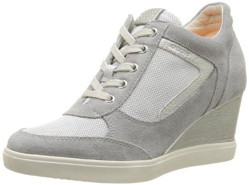 Geox - D Eleni A, Sneaker Donna Grigio (Pearl)