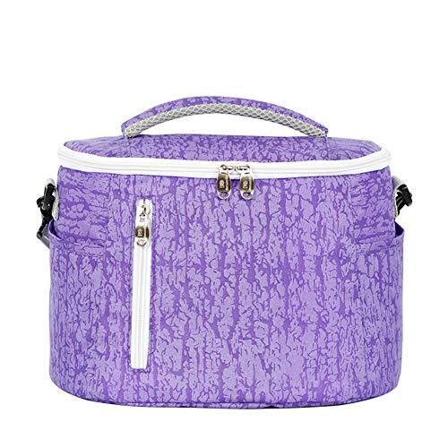 YuYaX Home Isolierte Lunch-Tasche,Große Kapazität für isolierte Kühltasche Lunchbox mit verstellbarem Schultergurt mit YKK-Reißverschluss, Purple
