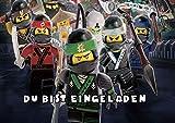 TV-24 Lego Ninjago Einladungskarten 12er Set inkl. 12 Umschläge E5