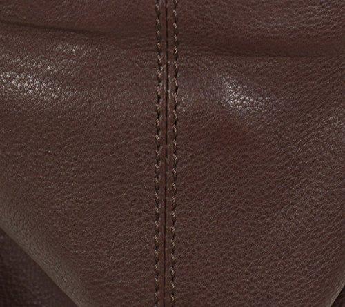 FREDsBRUDER Lollo Rosso IC sac d'épaule en cuir souple (40 x 31 x15 cm) Brown (Marron moyen)