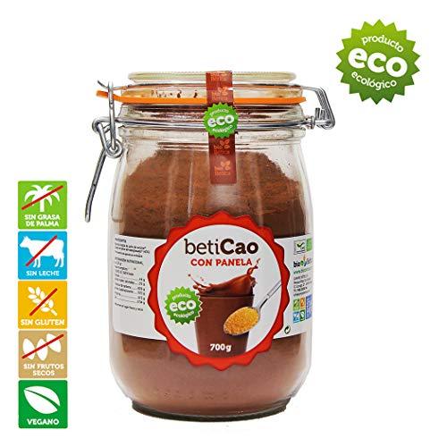 BetiCao con Panela Tarro Cacao Soluble Instantáneo Ecológico 700 gr 100{075bb838e591e227836f9e81462893a28054f0a1c8ab8f1c8d0f30961621e11e} BIO
