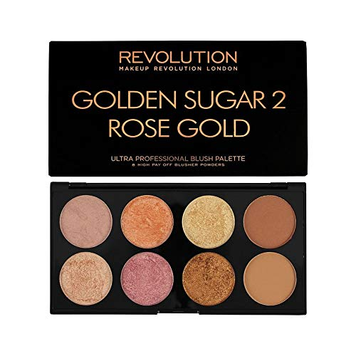 MAKEUP REVOLUTION Ultra Blush Palette Golden Sugar 2 Rose Gold, 13 g