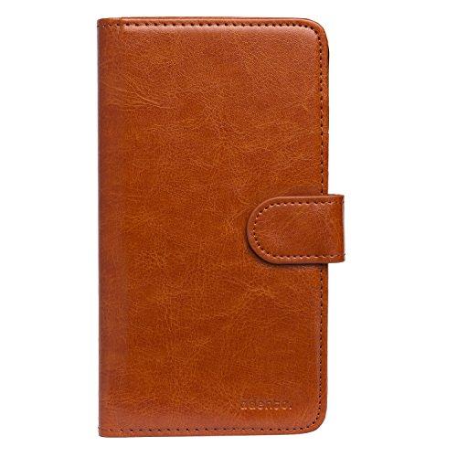 Adento - Custodia per iPhone 6, marrone, for iPhone 6 (Wallet Case) marrone