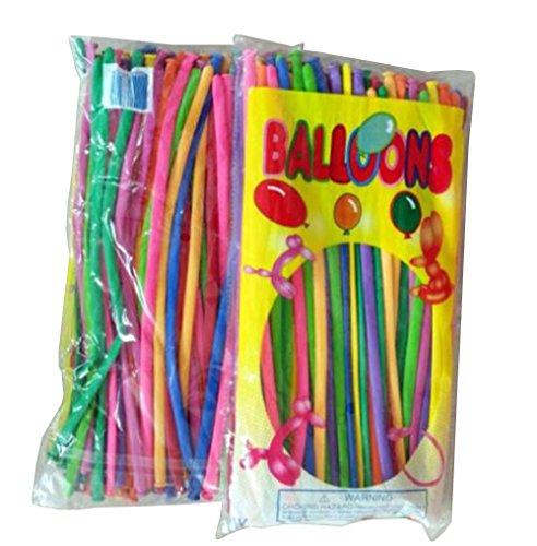 260q Packung mit 100 großen Farben gemischten Modellierballons