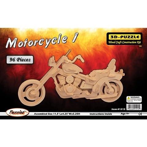 Verwirrt, Holz 3D Puzzle, 96Teile 29,2X 10,8cm x 5,25, Motorrad (Bausatz Harley Davidson)