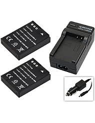 2x Akku (1100mAh) + 1x Ladegerät SET für die Actionpro X7 Actionkamera inklusive Kfz- / Autoladegerät