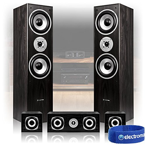 Skytronic-50-Black-Surround-Sound-Speakers-System-Hi-Fi-Home-Theatre-House-P