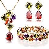 FLORAY Juegos de joyas-Cristal Pulsera & Colgante Collare & Pendientes