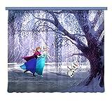Gardine/Vorhang FCS XXL 7006 Disney, Frozen, 280 x 245 cm, 2-teilig