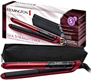 Remington Silk Hair Straightener - RES 9600, Red/Black
