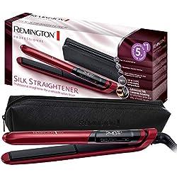 Remington Fer à Lisser, Lisseur Céramique Avancée Soin Protéine de Soie Plaques Souples XL 110mm, Cheveux Soyeux, Sans Frisottis - S9600