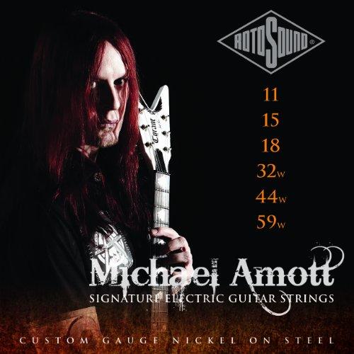 Rotosound Michael Amott Signature MAS11 Saiten für elektrische Gitarre (E-gitarre Rotosound Saiten)