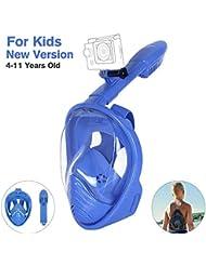 Unigear Maschera Subacquea, Maschera da Snorkeling per Adulti e Bambini (Aggiornato Blu per Bambini, XS)