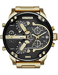 Diesel dz7333 57mm Ion Plated Stainless Steel Case Gold Plated Stainless Steel Glass Men's Watch