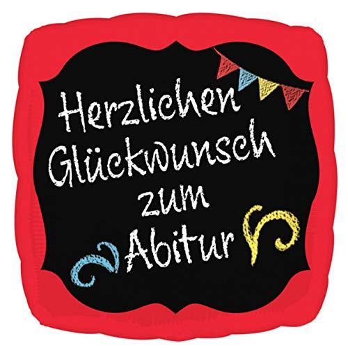 amscan 3770401 Folienballon Herzlichen Glückwunsch zum Abitur, Mehrfarbig