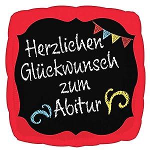 amscan 3770401 - Globo de plástico con Mensaje en alemán Herzlichen Glückwunsch Zum Abitur
