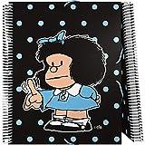Grafoplás 39822172 Carpeta de 30 Fundas A4 con Espiral, Diseño Mafalda Lunares, Cubiertas de Polipropileno