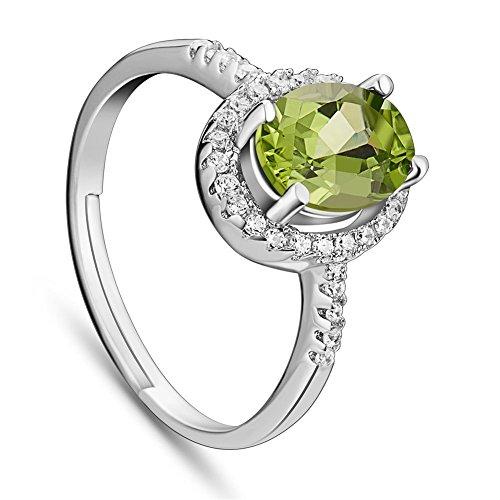 Sweetiee Grun Zirkon Kunstlich Diamant Sterling Silber Fingerringe Ringe (Preiswerte Diamant-ringe)