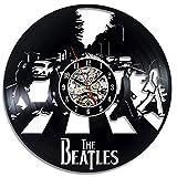 upnanren Runde Hohle Beatles Schallplatte Wanduhr Vinyl kreative Wanduhr Vintage handgefertigte dekorative Uhr
