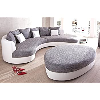 ecksofa ferro sofagarnitur mit hocker und kissen rundsofa moebelhome k che haushalt. Black Bedroom Furniture Sets. Home Design Ideas
