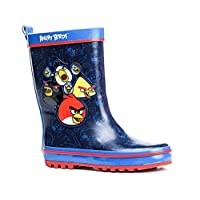 Angry Birds Wellies, Rubber Boots, Blue - 11 Child UK