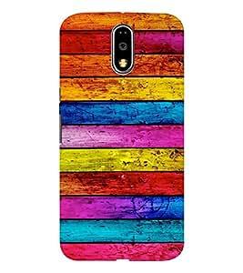 EPICCASE Colorful wood logs Mobile Back Case Cover For Moto G4 / G4 Plus (Designer Case)