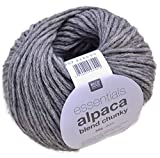 Rico essentials Alpaca blend chunky Fb. 07 mittelgrau - leichte Wolle mit Alpakawolle zum Stricken & Häkeln made in Ita