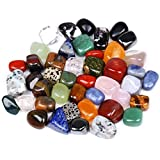 Yunhigh Piedras Naturales de Colores Mezclados Surtidos de Piedras pulidas de la Fuente Rocas Preciosas para cabbing Tumbling lapidario Reiki curación Maceta decoración