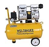 WELDINGER Flüsterkompressor FK 90 plus ölfrei 980 W Luftabgabe 120 l (Druckluftkompressor)