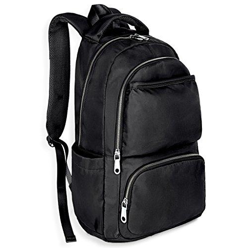 Imagen de uto laptop  oxford impermeable tela nylon unisex  escuela colegio bookbag bolsa de viaje bolso hombro negro