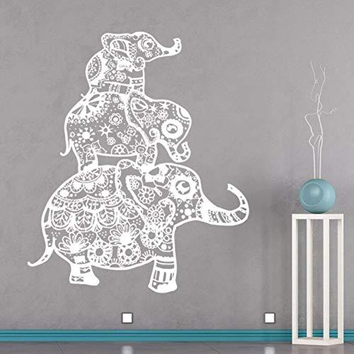 GUDOJK Pegatina de Pared Familia de Elefantes Tatuajes de Pared Ropa de...