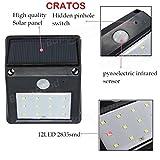 #9: Cratos 12 LED Solar Motion Sensor Light