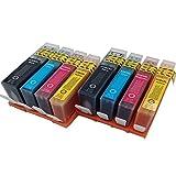 Lot de 85510cartouche d'encre Remplacement pour HP 364X L Cartouche d'encre compatible pour imprimante Hp Deskjet 3522352435203070A Photosmart 55207510551055145515552465106520D54607520C6380C5380Officejet 46204622(2Noir, 2Cyan, 2Magenta, 2Jaune)