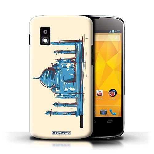 Kobalt® Imprimé Etui / Coque pour LG Nexus 4/E960 / La porte de Torii/Japon conception / Série Monuments Taj Mahal/Indie