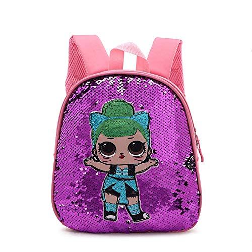 Bling Bling Kinder LOL Überraschung Puppe Muster Rucksack Lunchbox für Kinder, Rosa