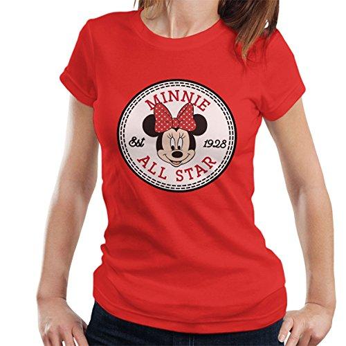 Minnie Mouse All Star Converse Logo Women's T-Shirt (Mickey-mouse-geburtstags-t-shirt)