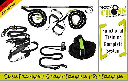 BodyCROSS Premium Functional Set   Schlingentrainer Pro   Rip Trainer   Sprint Trainer   Sling mit Umlenkrolle (Expert Set)