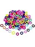 200 Stück Mehrfarbig Mini Haarband Elastische Haargummi vom Mädchen Baby Klein Weich Gummiband für Baby Kleinkind