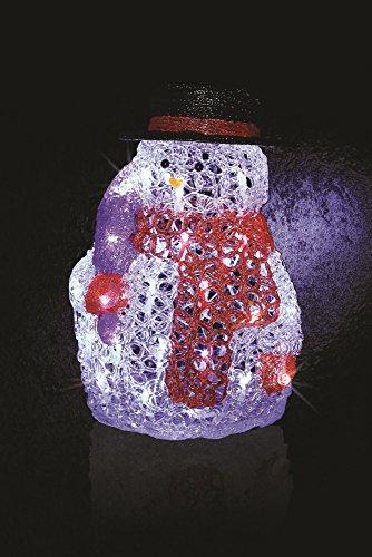 leuchtender Schneemann mit 40 weiß-kalten LED-Lampen