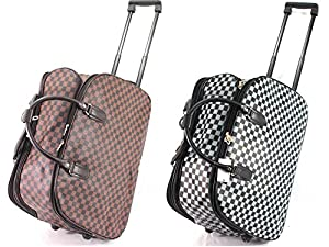 Checked Luggage Wheeled Travel Bag Holdall Cabin Trolley Case