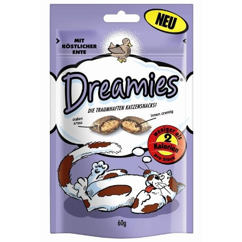 Dreamies Snack mit Ente | 6x 60g Katzensnack