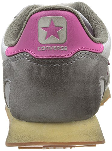 Converse, Aukland Racer OX Nylon/Suede, Sneaker unisex - adulto Oyster Grey/Eglantine