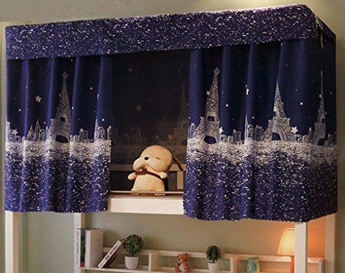 Tenda in tessuto per letto a castello di dormitori e letti a baldacchino, tenda oscurante a prova di polvere e zanzare