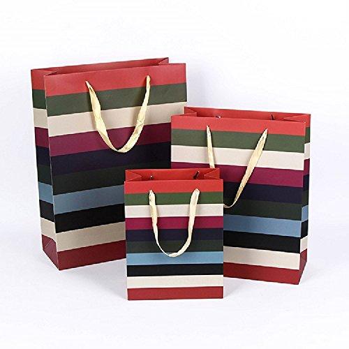 K&C Hallmark Geschenk Wrap Taschen Geburtstagsgeschenk Holiday Party Favor Sacks Bulk 12 Pack Hochzeit Bevorzugungen Papiertüten