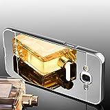 Samsung Galaxy J7 2016 Hülle, Handyhülle [Metall Bumper Alu Case 2 in 1] Schutzhülle für Samsung Galaxy J7 2016 Back Cover Rückschale [Silber]