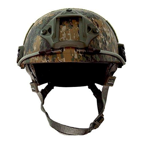 Kampf Schutz Helm mit Seite Schiene & NVG Reittier schwarz für Airsoft Taktisch Militär Paintball Jagd